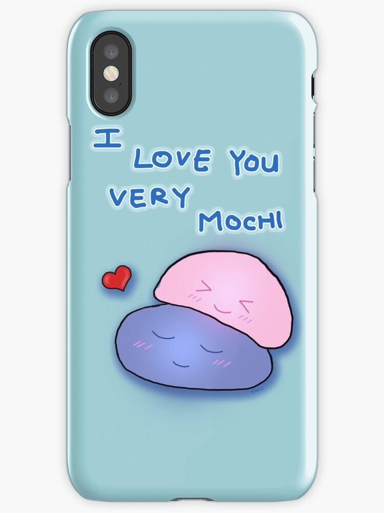 I Love You Very Mochi - Kawaii Original Art by anecdote