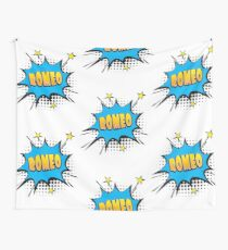 Comic book speech bubble font first name Romeo Wall Tapestry