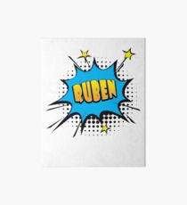 Comic book speech bubble font first name Ruben Art Board