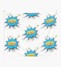 Comic book speech bubble font first name Rufus Wall Tapestry