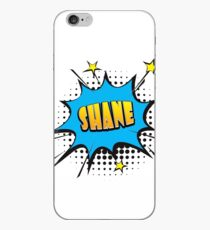 Comic book speech bubble font first name Shane iPhone Case