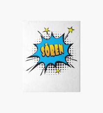 Comic book speech bubble font first name Sören Art Board