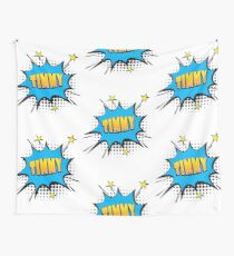 Comic book speech bubble font first name Timmy Wall Tapestry