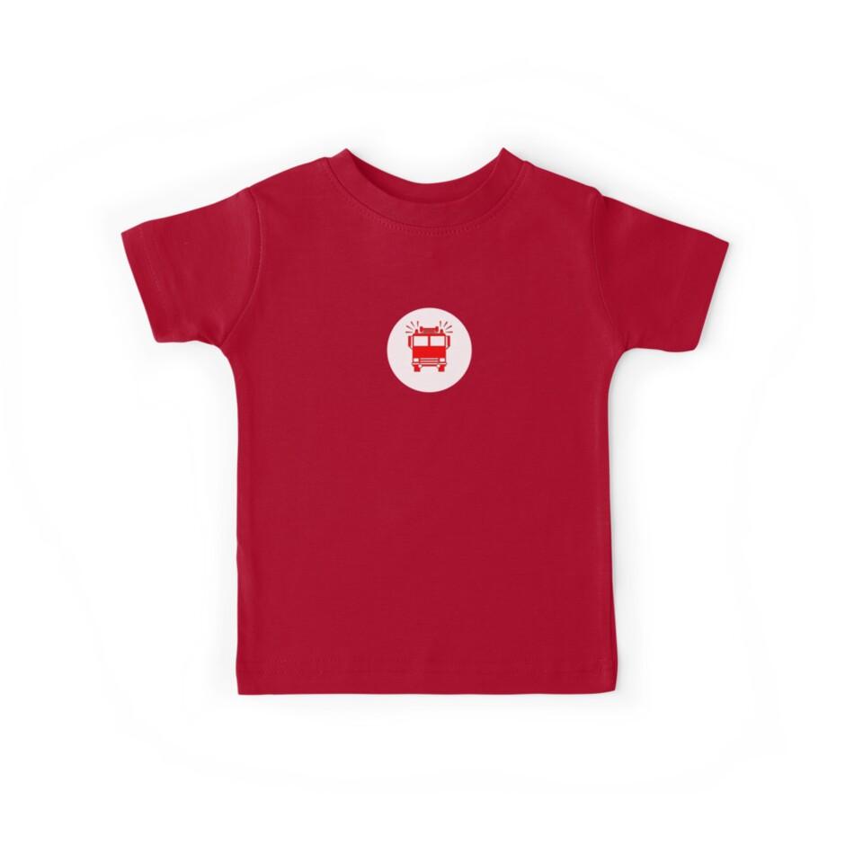 Fireman's T-Shirt - Fire Truck Sticker by deanworld