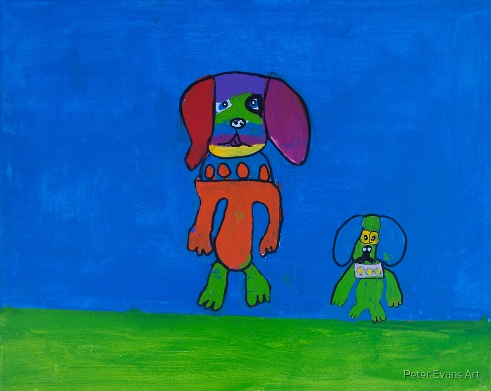 'Rainbow Dogs' by Taylor Mitchell (2015) by Peter Evans Art