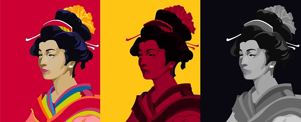Geisha Trio by iconymous