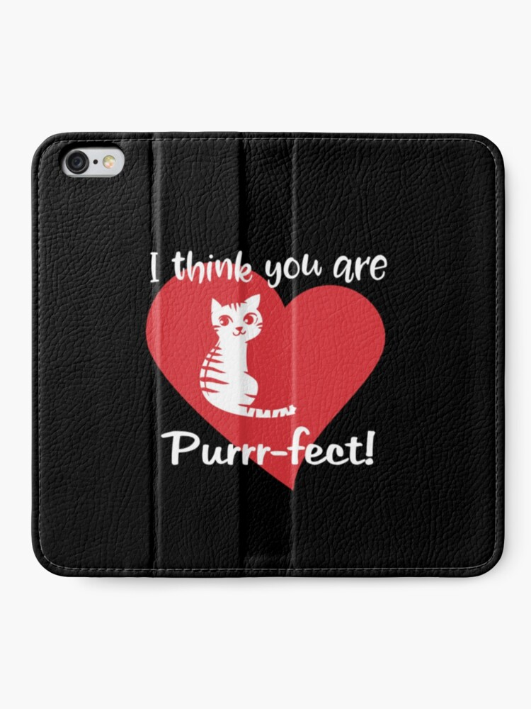Alternate view of Valentines Day Cat, Kitten Lovers Gift. iPhone Wallet