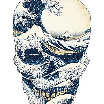 La gran ola de cráneo de quilimostock