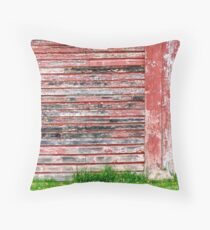 Black, White and Red All Over Throw Pillow