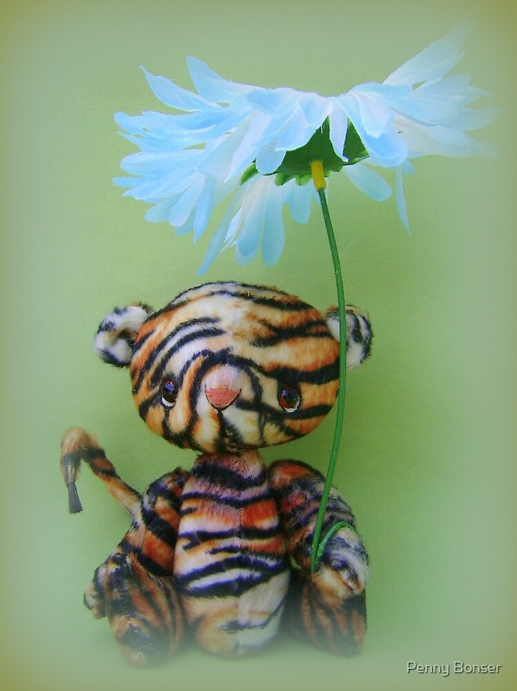 Timmy Tiger - Handmade bears from Teddy Bear Orphans by Penny Bonser