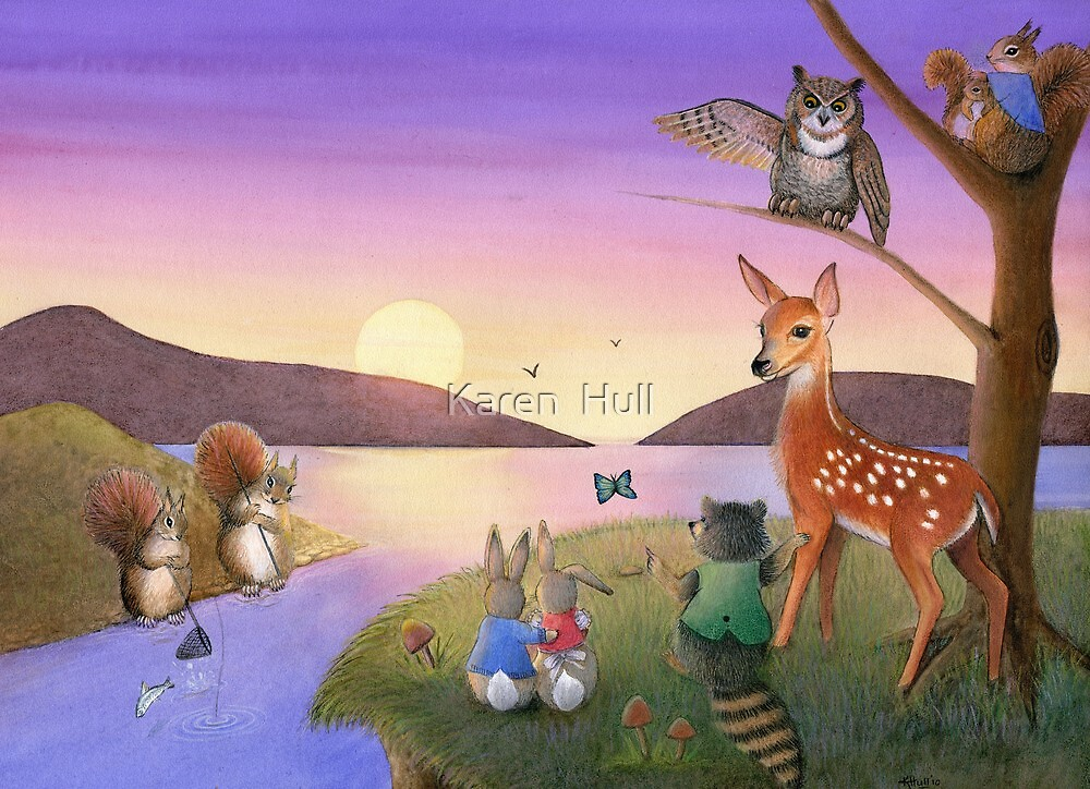 Sunset Gathering by Karen  Hull