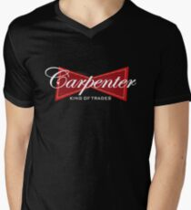Funny Carpenter King of Trades Tee  Gift V-Neck T-Shirt