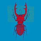 Stitches: Red stag by VrijFormaat
