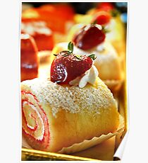 Strawberry Pastry Poster