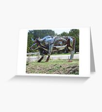 Sculpture oh HWY 290 in Johnson City Texas  (2010) Greeting Card