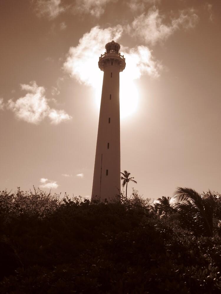 Amédée Lighthouse in Sepia by vspicerstuart