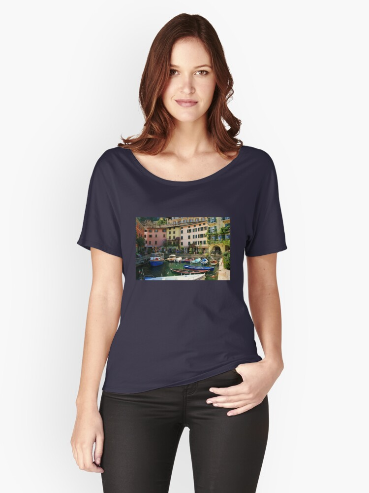 Limone Harbour Women's Relaxed Fit T-Shirt Front
