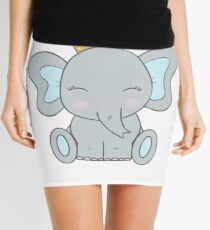 Cute Little Boy Elephant with Crown Mini Skirt