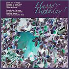 Autumn Sparkles Birthday card by Angele Ann  Andrews