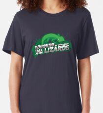 Kann spontan über Lizards I - Bearded Dragon Gift sprechen Slim Fit T-Shirt