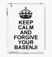Keep Calm Basenji With Crown iPad Case/Skin