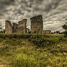 Ruins of Texas Ghost Town by Terence Russell