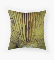 Beautiful Details of Yellow Fungus Throw Pillow