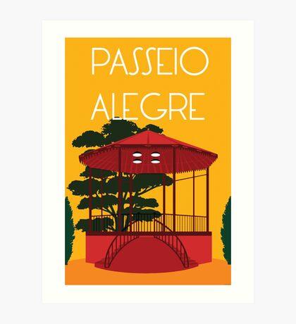 Passeio Alegre Art Print