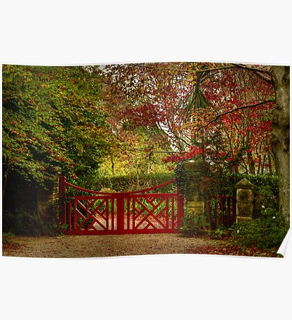 The Large Red Gate ... Mt Wilson in Autumn Poster