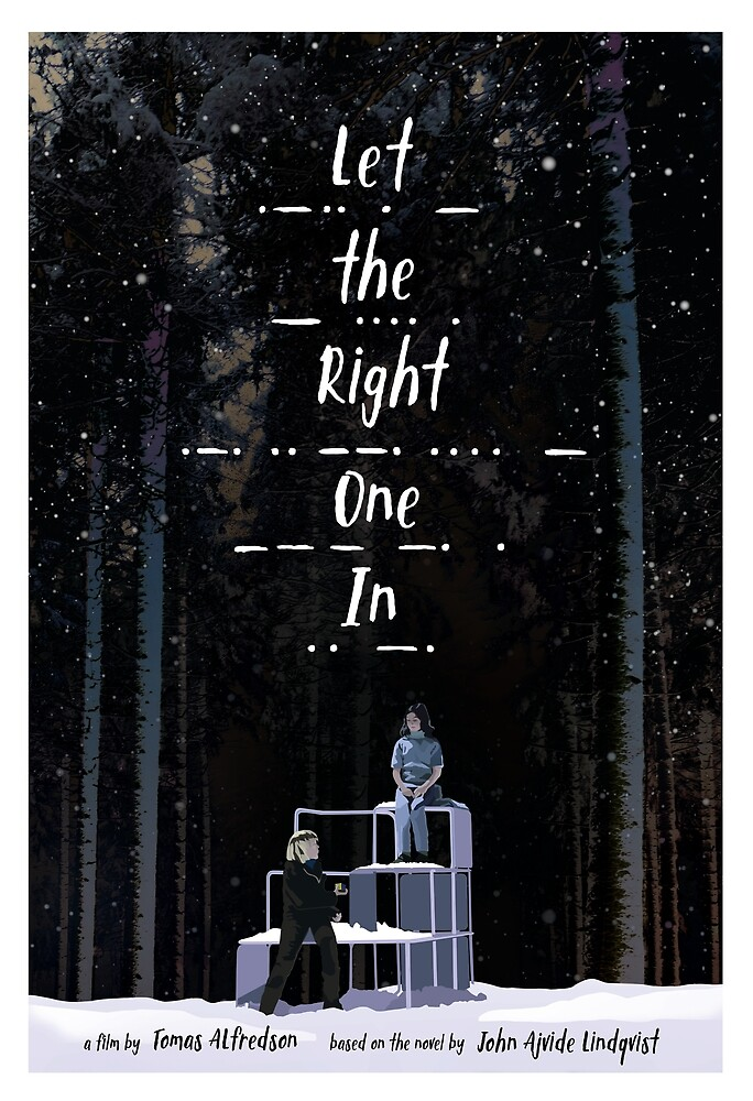 Let the Right One In movie poster by Chris Ayers