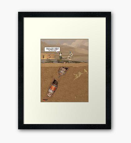 """EOD """"What could happen?"""" Framed Print"""
