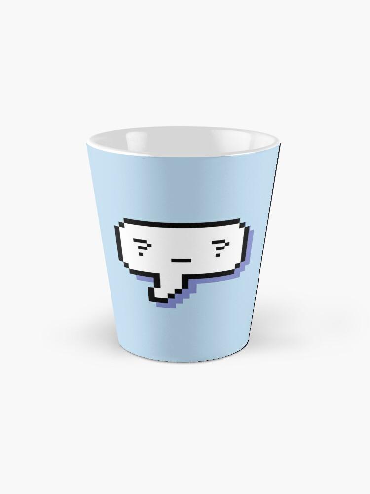 Alternate view of Confused Kaomoji - Pixel Speech Bubble - (Blue) Mug