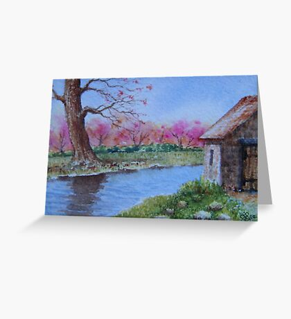 Miniature Seriest -The Stables by the Creek Greeting Card