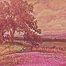 Pink Bluebonnets by redqueenself