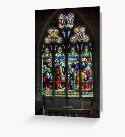 The Window at All Saints Misterton Greeting Card