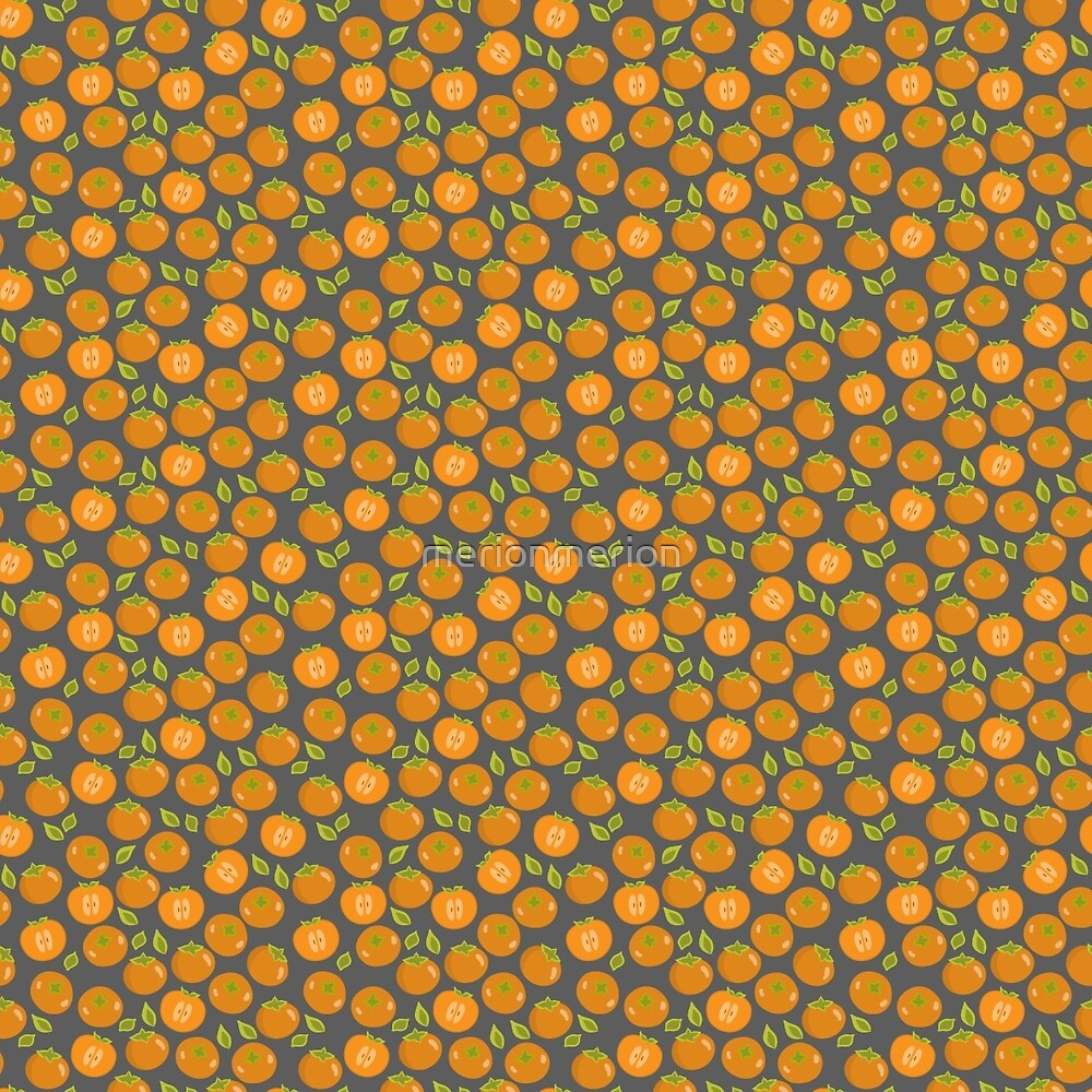 Persimmon pattern by merionmerion