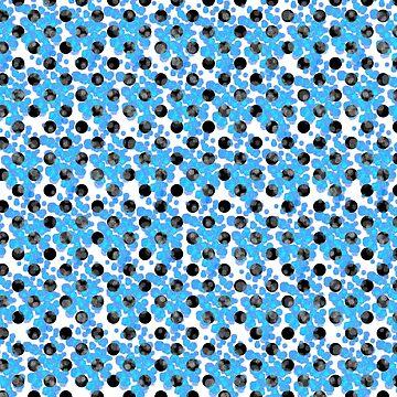 Blue Polka Dots Pattern by stefy1