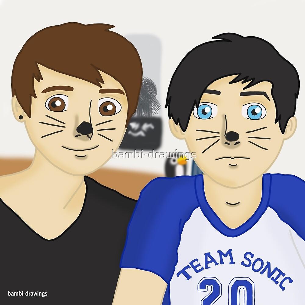 Dan and Phil by bambi-drawings