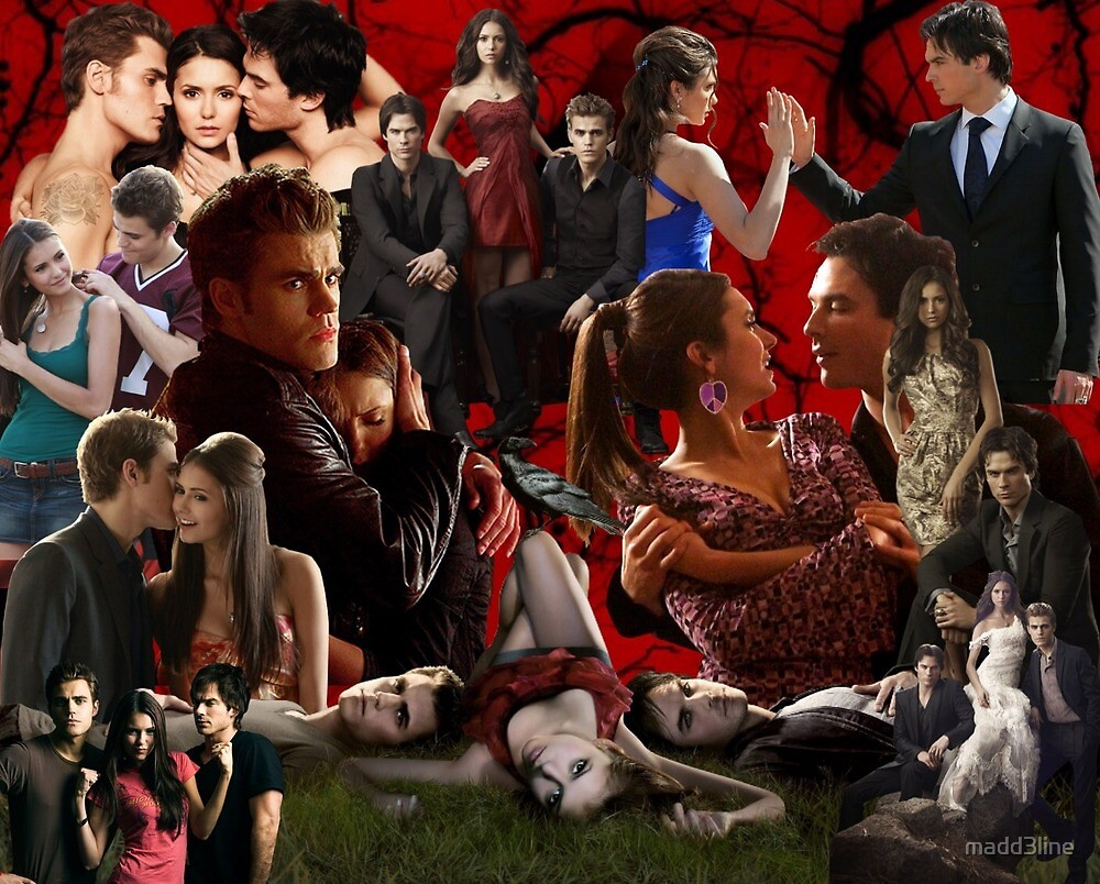 The vampire diaries collage by madd3line