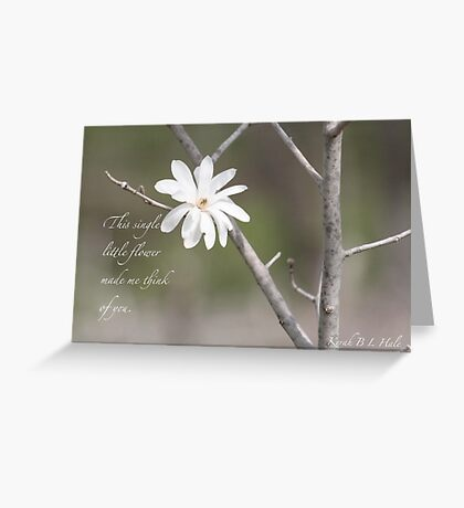 Single Greeting Card