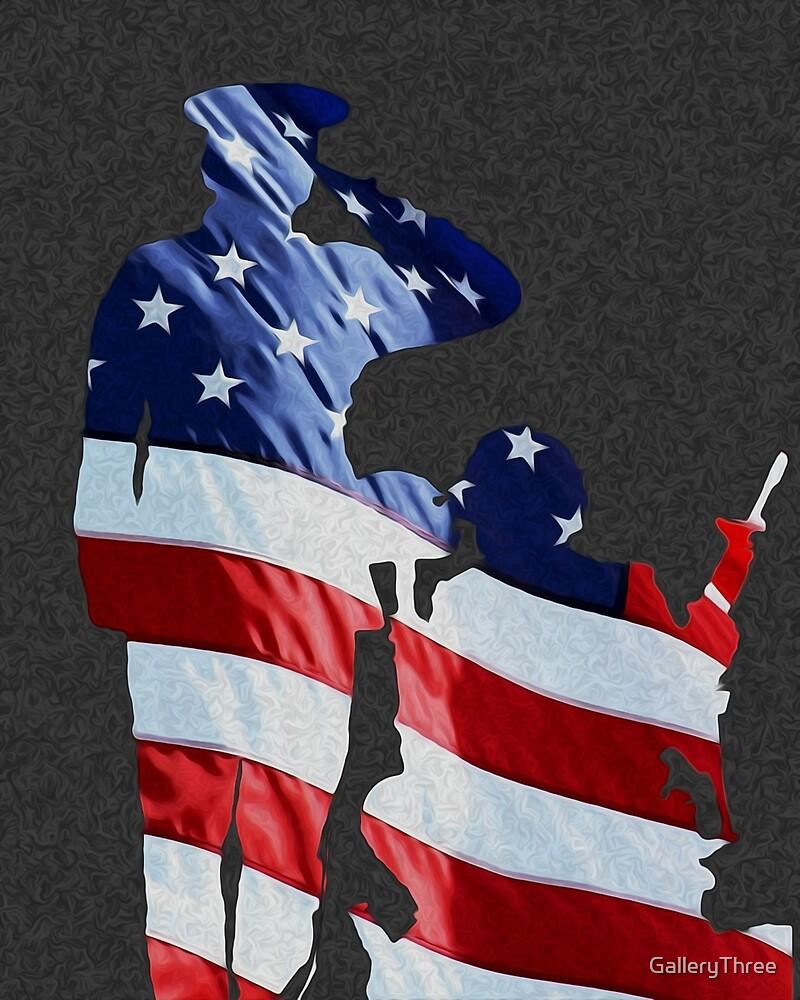 USA Salute by GalleryThree