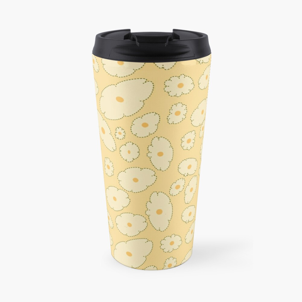 Field of Abstract Daisies Travel Mug