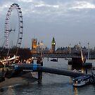 London Skyline from Waterloo Bridge by friendlydragon