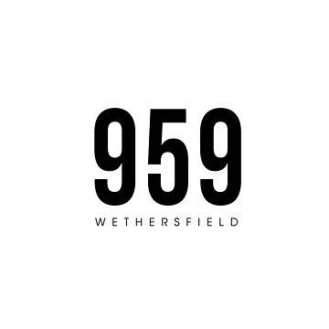 Código de área de Wethersfield, CT - 959 diseño de CartoCreative