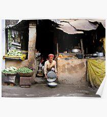 streetside. himachal pradesh, india Poster