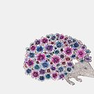 flower hedgehog by samclaire