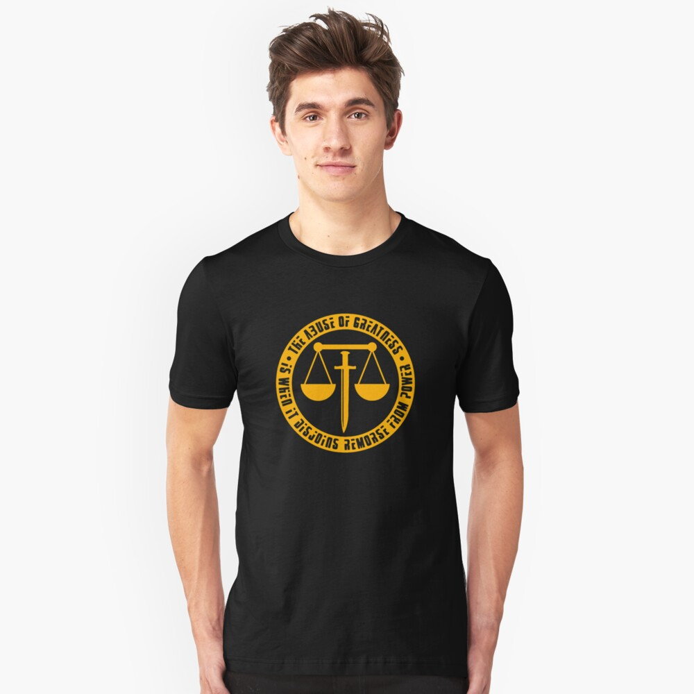 EDEN OF THE EAST - The Abuse of Greatness is When it Disjoins Remorse from Power Unisex T-Shirt Front