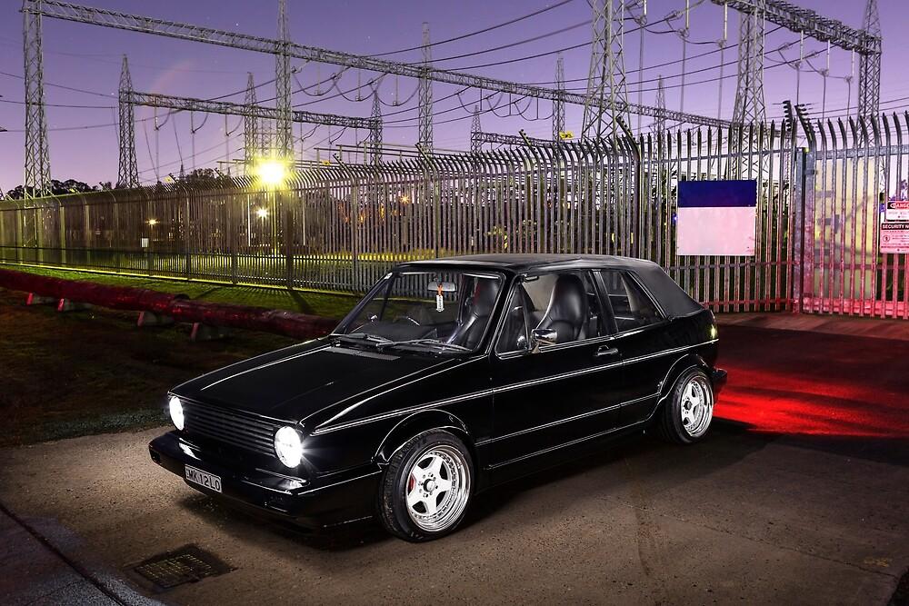 Azgar Khan's Mk1 Golf Cabrio by HoskingInd