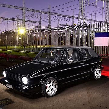 Azgar Khan's Mk1 Golf Cabrio by HoskingInd