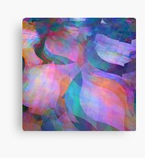 Translucent soft coloured fractal abstract  Canvas Print